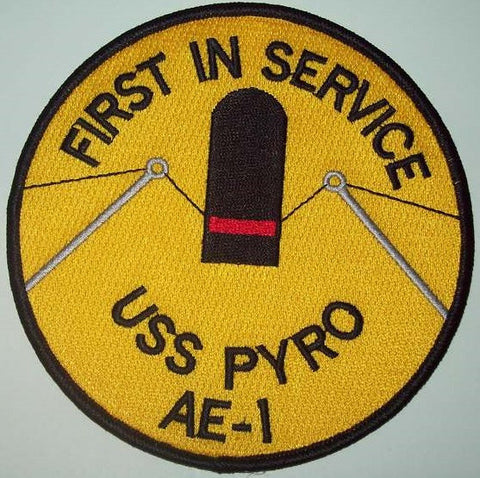 AE-1 USS PYRO AMMUNITION SHIP MILITARY PATCH