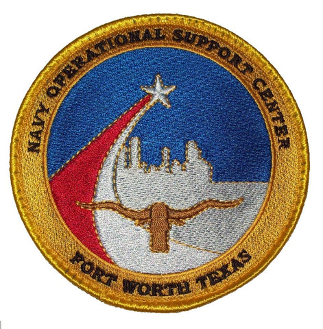 NAVY OPERATIONAL SUPPORT CENTER FORT WORTH TEXAS VELCRO MILITARY PATCH