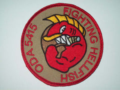 "ODA 5415 ""FIGHTING HELLFISH"" VELCRO MILITARY PATCH"
