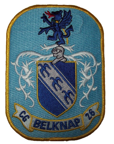 NAVY USS BELKNAP (CG-26) GUIDED MISSILE CRUISER SHIP MILITARY PATCH