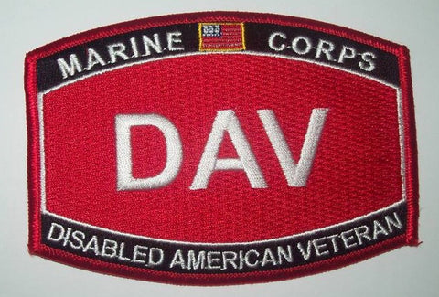 US MARINE CORPS DISABLED AMERICAN VETERAN - DAV MILITARY PATCH