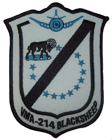USMC VMA-214 (BLACKSHEEP) FIGHTER SQUADRON MILITARY PATCH