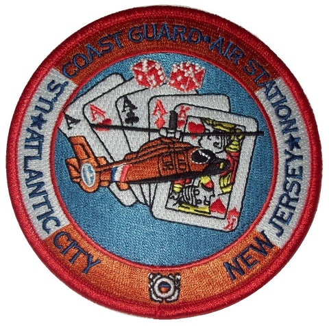 US COAST GUARD NAVAL AIR STATION ATLANTIC CITY NEW JERSEY MILITARY PATCH