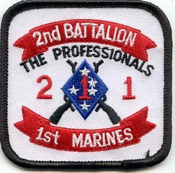 1st MARINES 2nd BATTALION MILITARY PATCH THE PROFESSIONALS