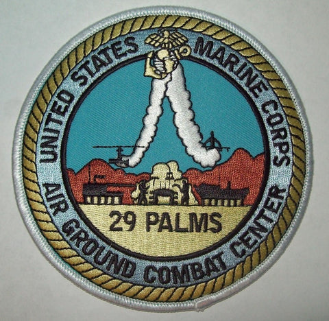 US MARINE CORPS AIR GROUND COMBAT CENTER - 29 PALMS MILITARY PATCH