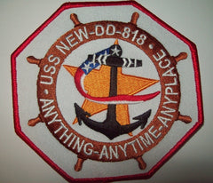 DD-818 USS NEW - GEARING CLASS DESTROYER MILITARY PATCH