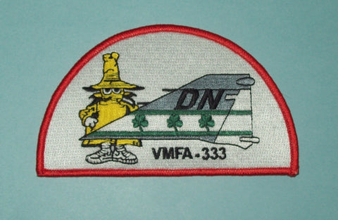 "USMC VMFA-333 MARINE FIGHTER ""FIGHTING SHAMROCKS"" PHANTOM TAIL MILITARY PATCH"