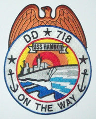 DD-718 USS Hamner Destroyer Ship Military Patch ON THE WAY