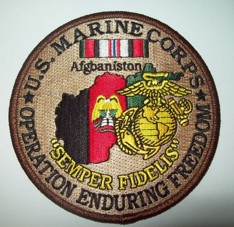 US MARINE CORPS - OPERATION ENDURING FREEDOM - AFGHANISTAN - SEMPER FIDELIS - MILITARY PATCH