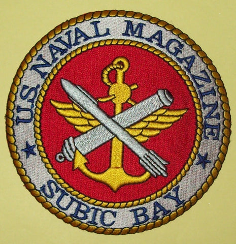 US NAVAL MAGAZINE SUBIC BAY PHILIPPINES MILITARY PATCH