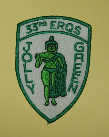 USAF - AFSOC 33rd ERQS RESCUE SQUADRON Jolly Green PJ Military Patch - AIR FORCE