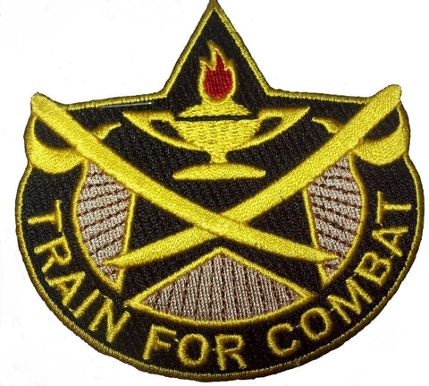 ARMY 4th CAVALRY BRIGADE UNIT CREST MILITARY PATCH TRAIN FOR COMBAT