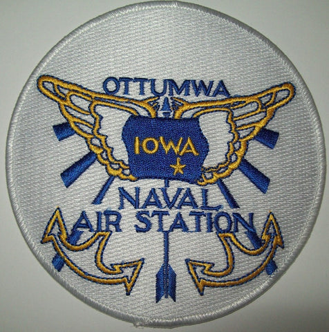NAVAL AIR STATION NAS OTTUMWA, IOWA MILITARY PATCH