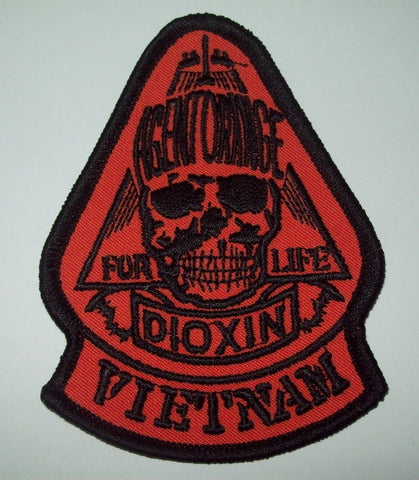 VIETNAM AGENT ORANGE FOR LIFE - DIOXIN MILITARY PATCH