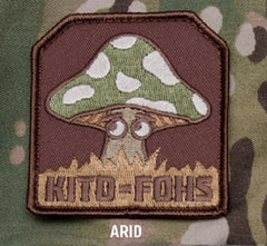 KITD-FOHS MUSHROOM TACTICAL COMBAT BADGE MILITARY PATCH - ARID