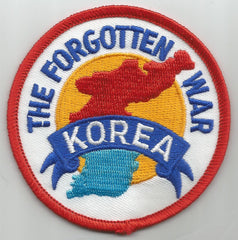 KOREA THE FORGOTTEN WAR MILITARY PATCH