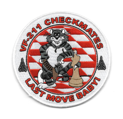 VF-211 Checkmates TOMCAT Last Move Baby! USN Navy Military Patch