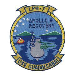 LPH-7 USS Guadalcanal Iwo Jima-Class Amphibious Assault Ship Military Patch APOLLO 9 RECOVERY