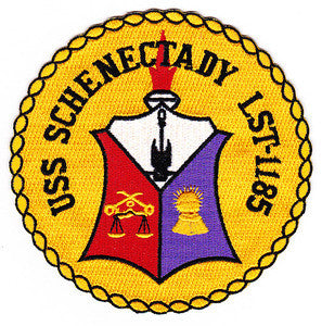 LST-1185 USS Schenectady Landing Ship Tank Military Patch