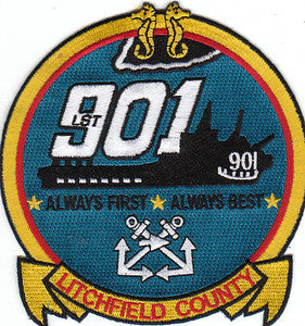 LST-901 USS LITCHFIELD COUNTY MILITARY PATCH ALWAYS FIRST ALWAYS BEST