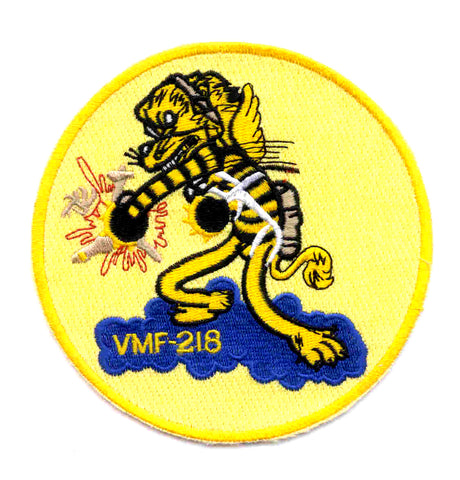 VMF-218 United States Marine Corps Fighter Squadron Two One Eight Military Patch HELLIONS