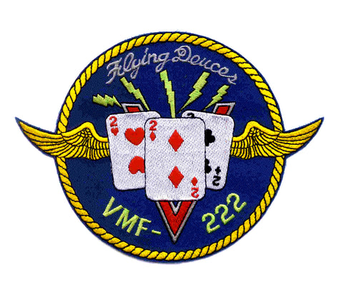 VMF-222 United States Marine Corps Fighter Squadron Two Two Two Military Patch THE FLYING DEUCES
