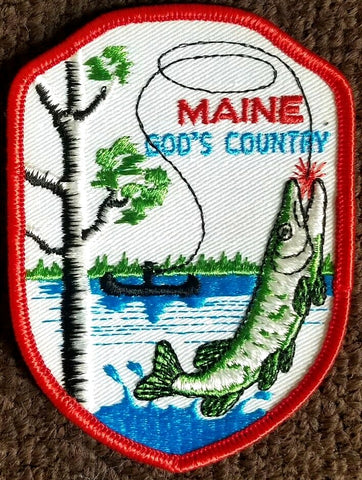 MAINE God's Country Sew-On Vintage Patch