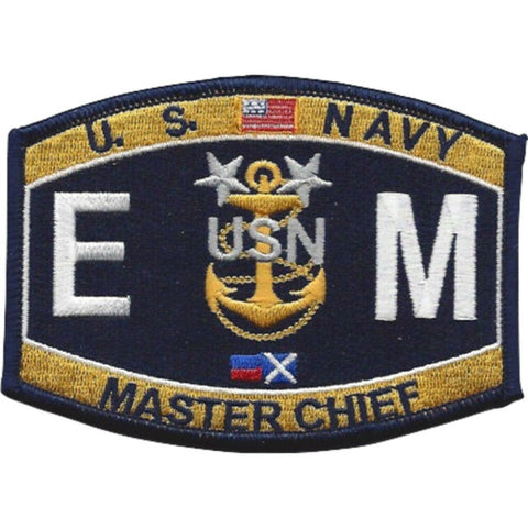 Master Chief Electrician's Mate Rating Navy Military Patch EMCM