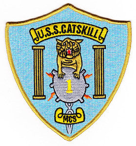 MCS-1 USS CATSKILL Mine Countermeasures Ship Military Patch