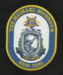 DDG-1001 USS MICHAEL MONSOOR Navy Guided Missile Destroyer Military Patch I WILL DEFEND