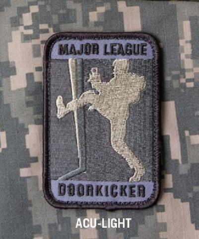 MAJOR LEAGUE DOOR KICKER TACTICAL MORALE VELCRO PATCH - ACU LIGHT