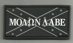 MOLON LABE REBEL FLAG PVC VELCRO PATCH - SWAT