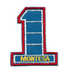 Montesa Number 1 Motorcycle Vintage Patch