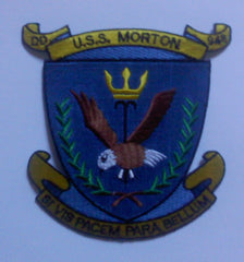 DD-948 USS MORTON Forest Sherman - Class Destroyer Military Patch SI VISPACEM PARA BELLUM