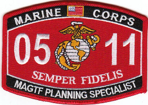 "USMC ""MAGTF PLANNING SPECIALIST"" 0511 MOS MILITARY PATCH SEMPER FIDELIS"