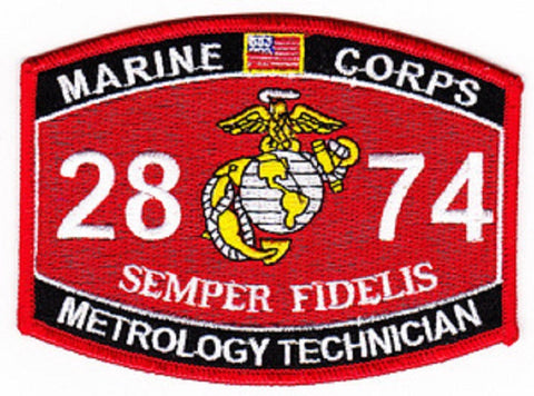 "2874 USMC ""METROLOGY TECHNICIAN"" MOS MILITARY PATCH"