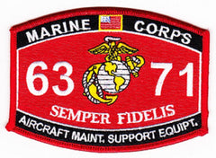 "USMC ""Aircraft Maintenance Support Equipment "" 6371 MOS MILITARY PATCH"