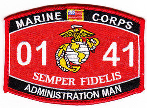Marine Corps Military Occupational Specialty 0141 Administration Man MOS Military Patch