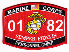 0182 Personnel Chief USMC MOS Military Patch SEMPER FIDELIS