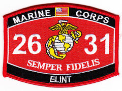 United States Marine Corps 's Military Occupational Specialty 2631Electronic Intelligence Intercept Operator Analyst MOS Military Patch