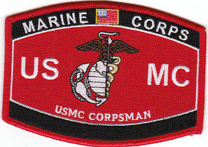 USMC Military Occupational Specialty USMC Corpsman MOS Military Patch