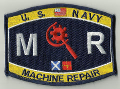 United States NAVY Engineering Rating Machine Repair Military Patch MR