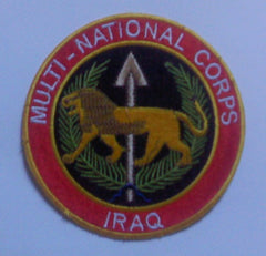 MULTI-NATIONAL CORPS IRAQ MILITARY PATCH OIF OEF FULL COLOR