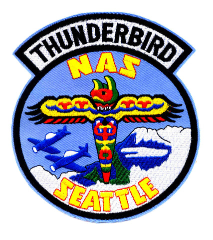 US Naval Air Station SEATTLE Military Patch THUNDERBIRD