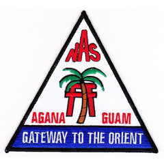 NAS AGANA GUAM MILITARY PATCH - NAVAL AIR STATION - GATEWAY TO THE ORIENT