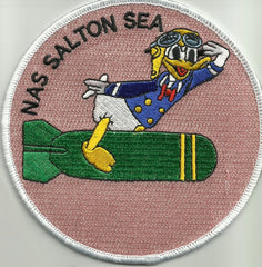 NAVAL AUXILIARY AIR STATION SALTON SEA MILITARY PATCH NAS DONALD DUCK