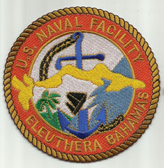 NAVAL FACILITY ELEUTHERA BAHAMAS MILITARY PATCH