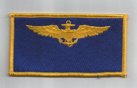 NAVY PILOT WINGS NAME TAG MILITARY PATCH