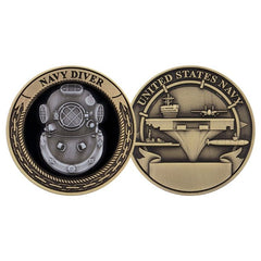 Navy DIVER Challenge Coin