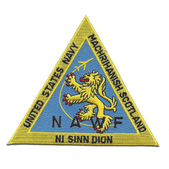 Naval Air Weapons Facility Machrihanish Scotland Military Patch - NAWF